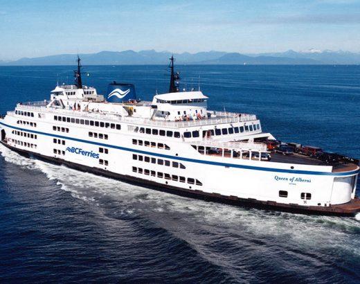 BC Ferries zarpa de Tsawwassen a Swartz Bay, Duke Point se agotó el jueves