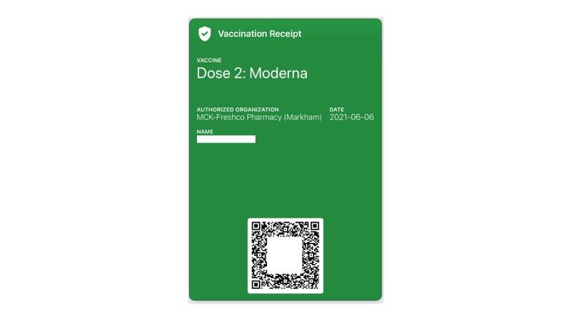 Cómo guardar un recibo de vacunación de Ontario en la aplicación Wallet para iPhone